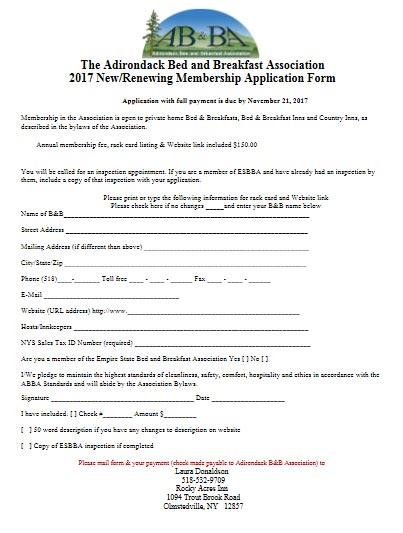ABBA Membership Application